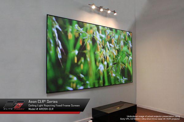 Aeon CLR®, Fixed frame projector screen, short throw projector screen