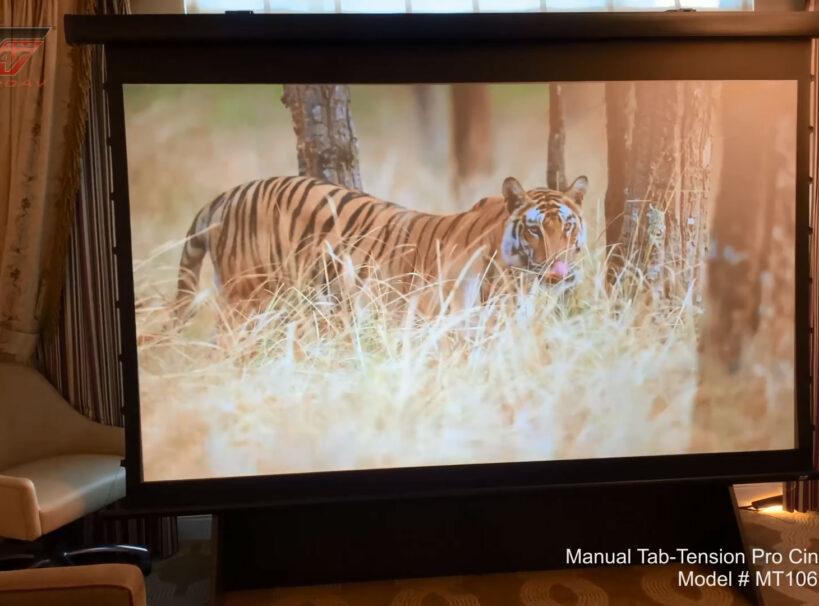CES 2020 Manual Tab-Tension CineGrey 5D® Projector Screen - Crutchfield