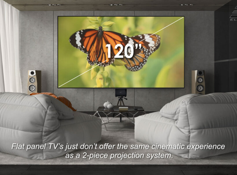 Benefits of Using a Ceiling Ambient Light Rejecting UST Material vs. a Flat Panel TV