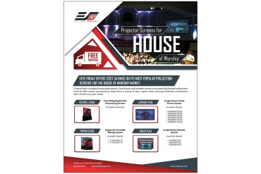 EliteProAV™ Offers Cost Savings on Its Most Popular Projection Screens