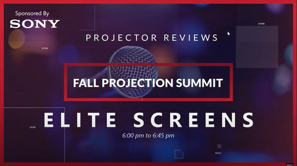 Jaime Abrego, Product Manager of Elite Screens, Joins Projector Reviews Fall Projection Summit.