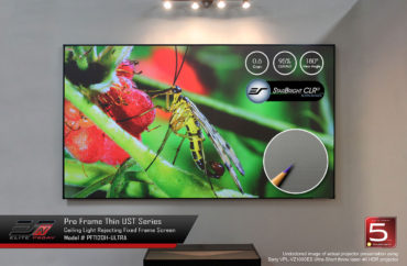 Elite ProAV®'s Pro Frame Thin UST Rejects Ceiling & Ambient Light for Ultra Short Throw Projectors