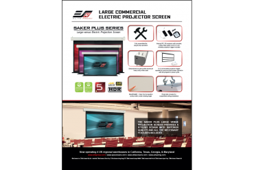 Large Commercial Electric Projector Screen