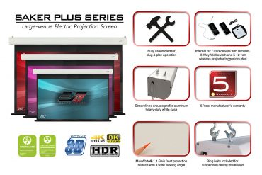 Elite ProAV™ Releases its Latest Video about the Saker Plus Large Venue Projector Screen
