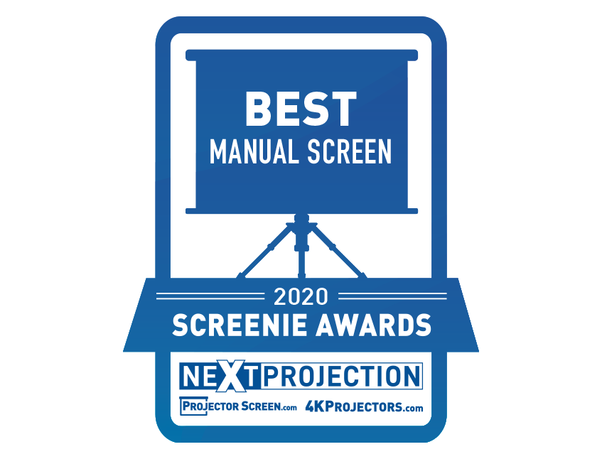 Elite ProAV's Manual Tab-Tension Pro CineGrey 5D® Receives Screenie Award for Best Manual Screen