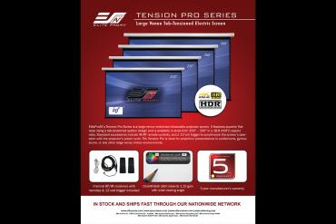 Large Venue Tab-Tension Electric Screen