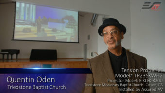 Case Study: Elite ProAV® Tension Pro Series at Triedstone Missionary Baptist Church