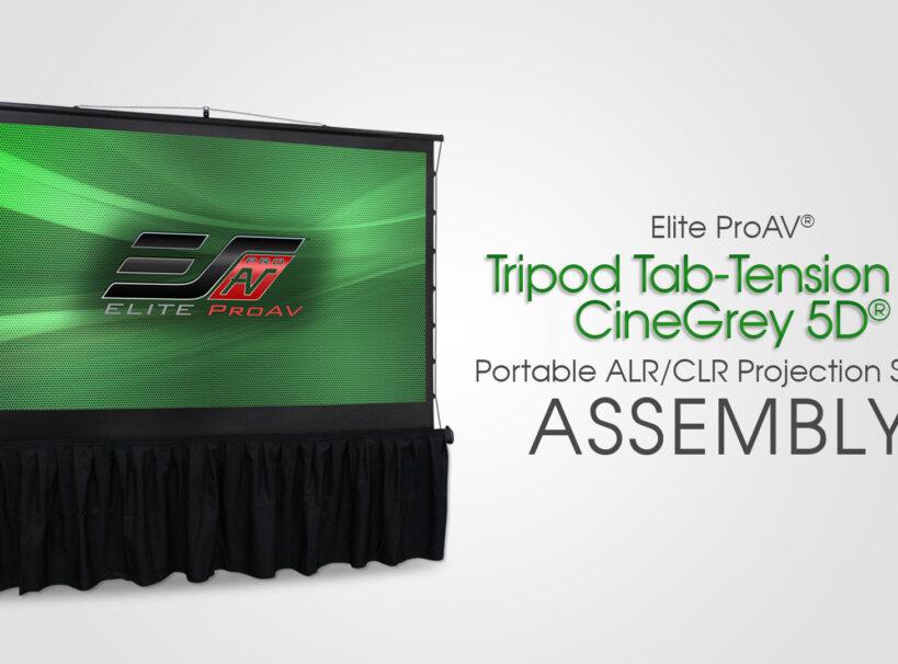 Tripod Tab-Tension Pro CineGrey 5D® - Setup and Takedown