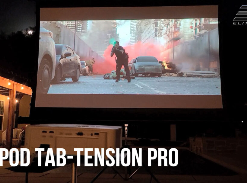 Tripod Tab-Tension Pro Series Reviewed by Joelster   Portable Free-Standing Projector Screen