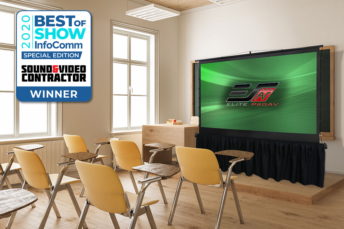 Elite ProAV's Award Winning Projection Screens Featured at Projection Expo 2020 and InfoComm Connected 2020