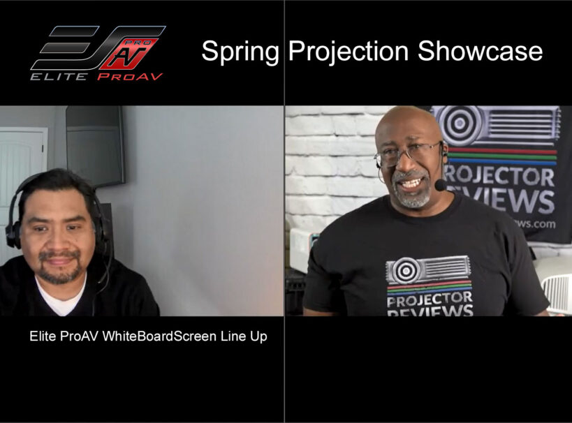Projector Reviews WhiteBoardScreen Line Up Projector Showcase